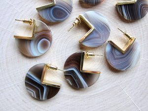 Band Together Agate Earrings
