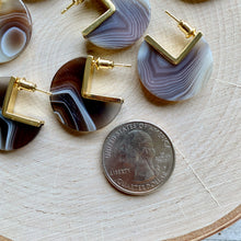Load image into Gallery viewer, Band Together Agate Earrings