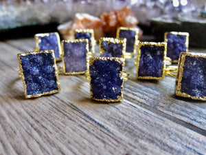 Purple Rain Druzy Ring