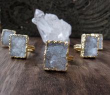 Load image into Gallery viewer, Polar Ice Druzy Ring