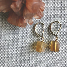 Load image into Gallery viewer, Carmen Citrine Dangle Earrings