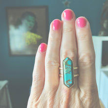 Load image into Gallery viewer, Turquoise Pylon Ring