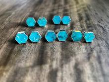Load image into Gallery viewer, Tavares Turquoise Studs