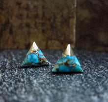 Load image into Gallery viewer, Thebes Turquoise Studs