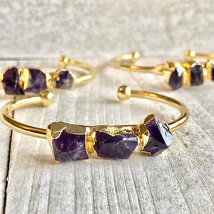 The Athena Amethyst Bangle