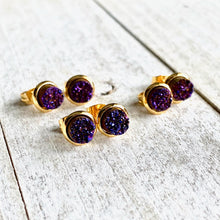 Load image into Gallery viewer, Dahlia Druzy Studs
