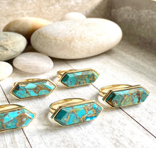 Load image into Gallery viewer, Trapezio Turquoise Ring