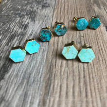 Load image into Gallery viewer, Genuine Turquoise Studs