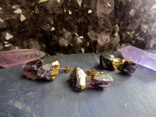 Load image into Gallery viewer, Aubergine Amethyst Studs