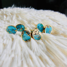 Load image into Gallery viewer, turquoise stud earrings