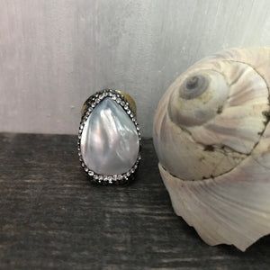 Pluto Pearl Ring