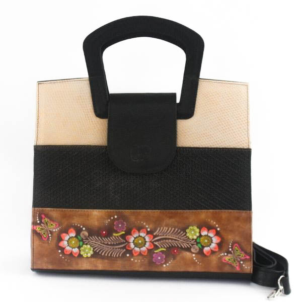 Contemporary Leather Bag Black - C&B Craft Corp