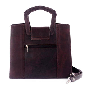 Contemporary Leather Bag Purpure - C&B Craft Corp