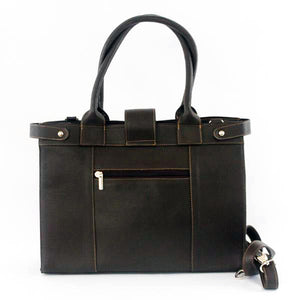 Large Leather Bag Brown - C&B Craft Corp