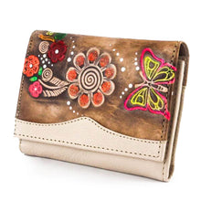 Load image into Gallery viewer, Medium Leather Wallet Beige 2 - C&B Craft Corp