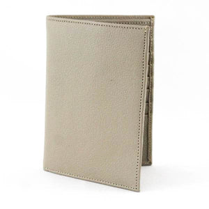 Passport Plane Leather Wallet Beige - C&B Craft Corp