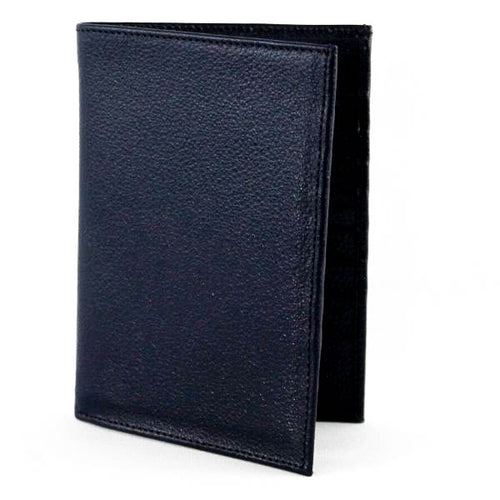 Passport Plane Leather Wallet Blue - C&B Craft Corp