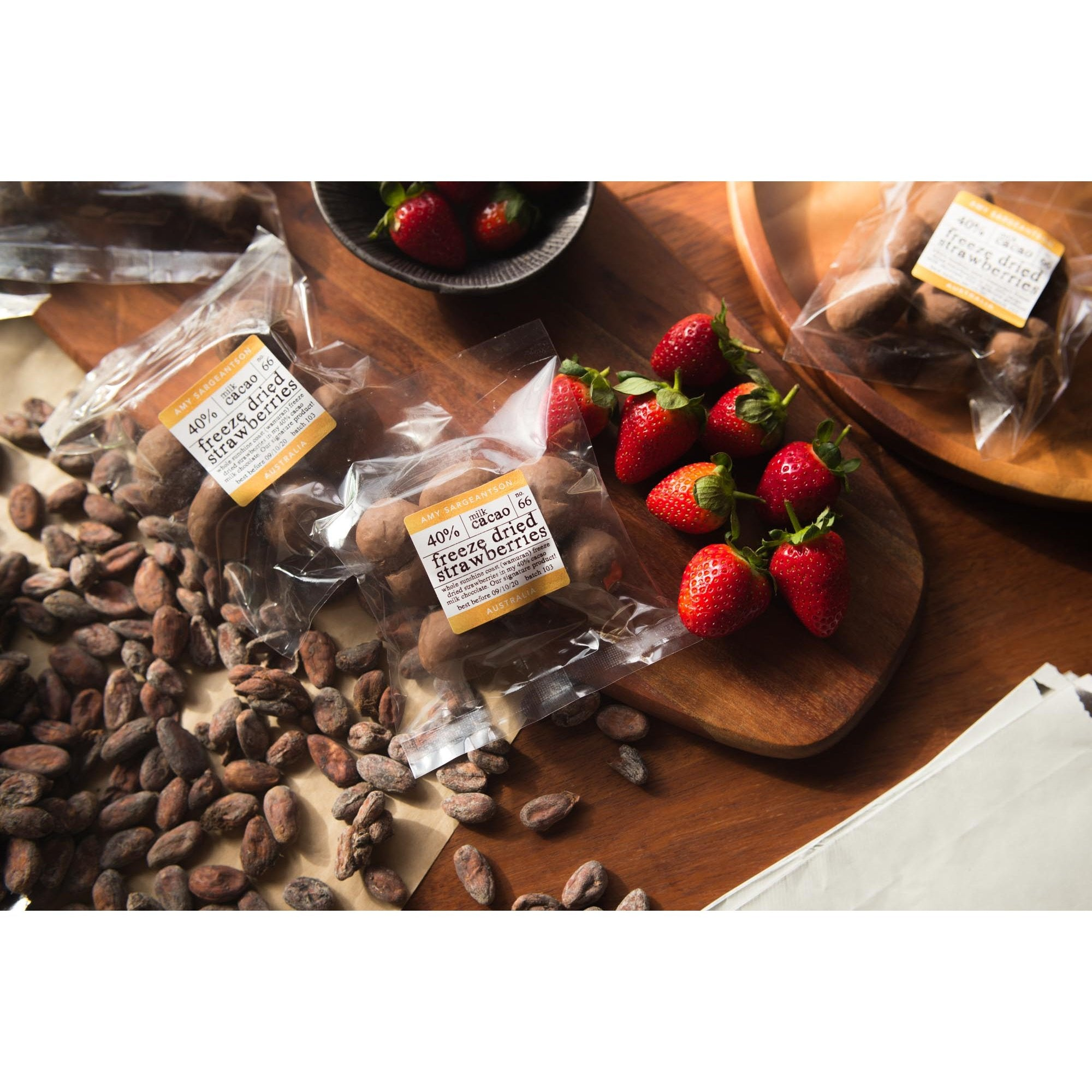 Sargeantson original Milk freeze dried strawberries - Amy Sargeantson