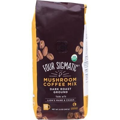 FOUR SIGMATIC Mushroom Ground Coffee Mix with Lion's Mane - 340g
