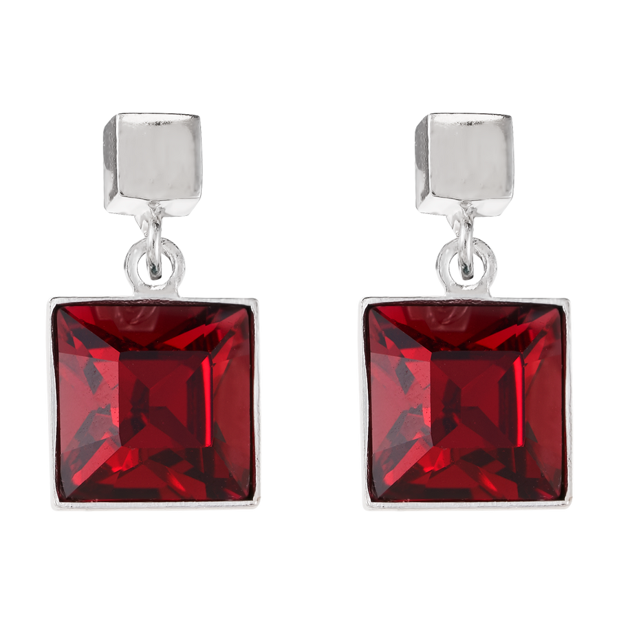 Earrings Swarovski® Crystals ruby