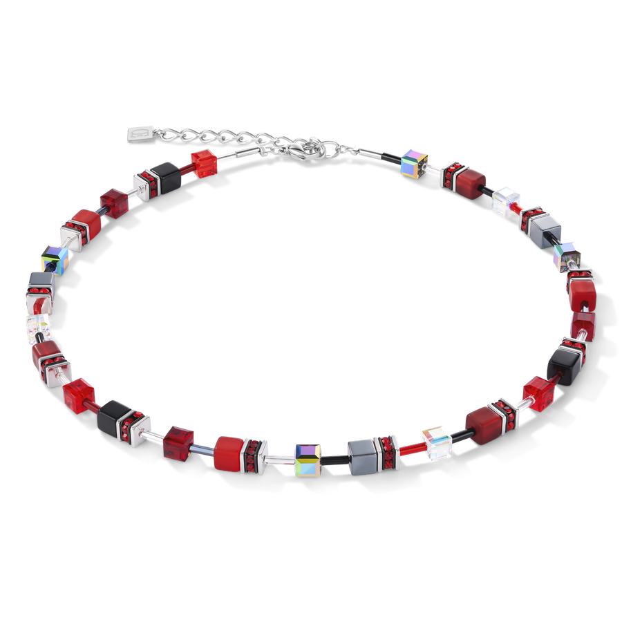 GeoCUBE® Necklace red-haematite