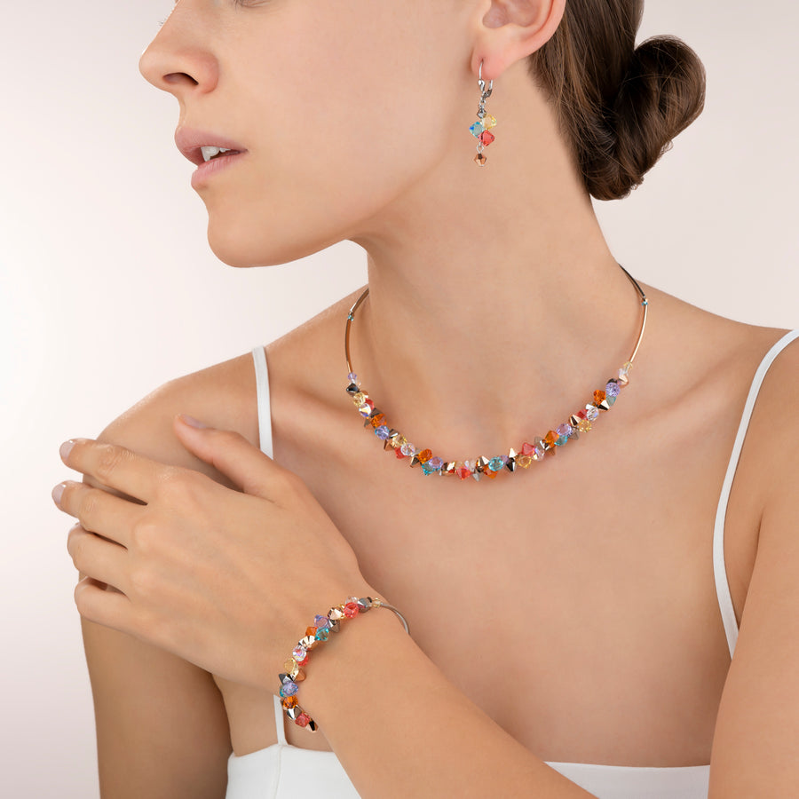 Earrings Swarovski® Crystals & stainless steel multicolour pastel 1