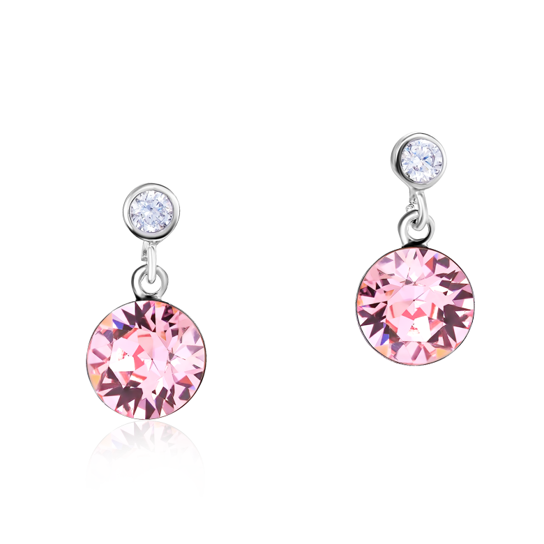 Earrings Swarovski® Crystals & stainless steel light rose
