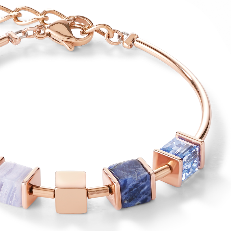 Bracelet GeoCUBE® & chain blue