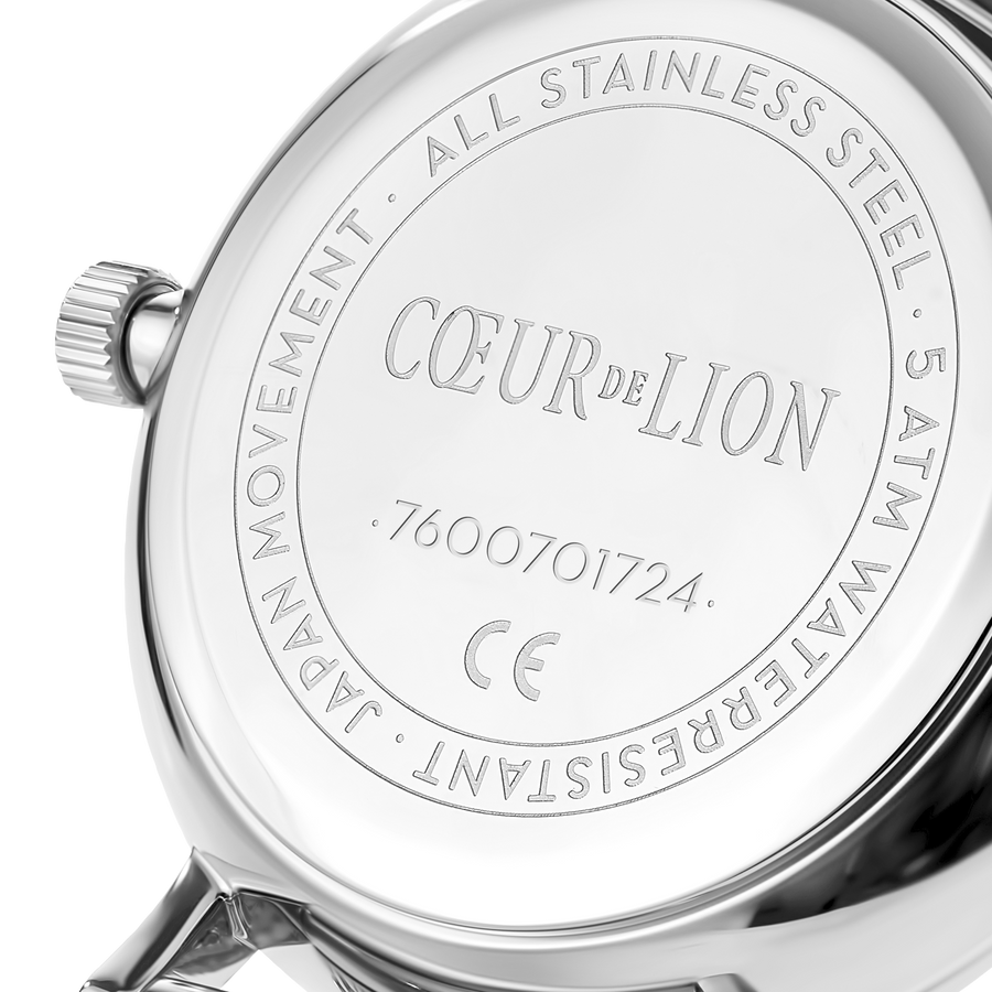 Watch Round Cool Grey Milanese Stainless Steel