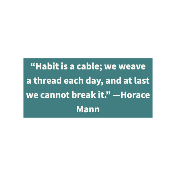 quote about habits