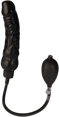Titus Rubber Inflatable Dildo | Adjustable | Black