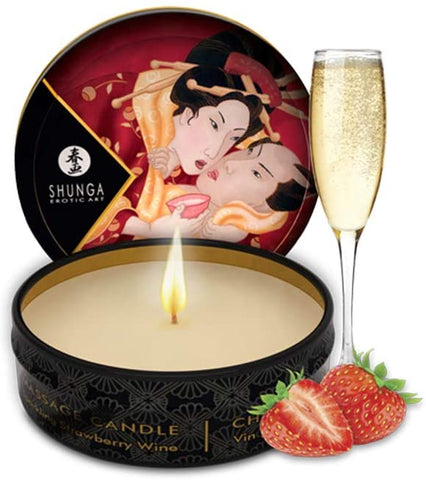 Shunga Massage Candle 6pcs - Strawberry