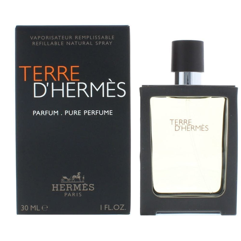 Terre D'Hermes 1 oz / 30 ml Pure Perfume For Men Refillable Spray