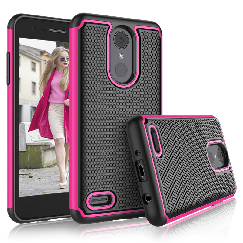 Tekcoo Shock Absorbing Rubber Silicone & Plastic Hard  Cell Phone Case