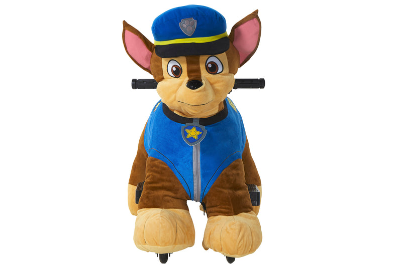 Paw Patrol 6v Plush Chase Ride-On with Authentic Chase Features and Pup House Included!
