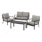 Mainstays Owen Park 4-Piece Outdoor Patio Conversation Set