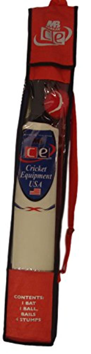 CE Kids Cricket Gift Set Young American Includes Wooden Cricket Bat Tennis Ball Stumps and Bag