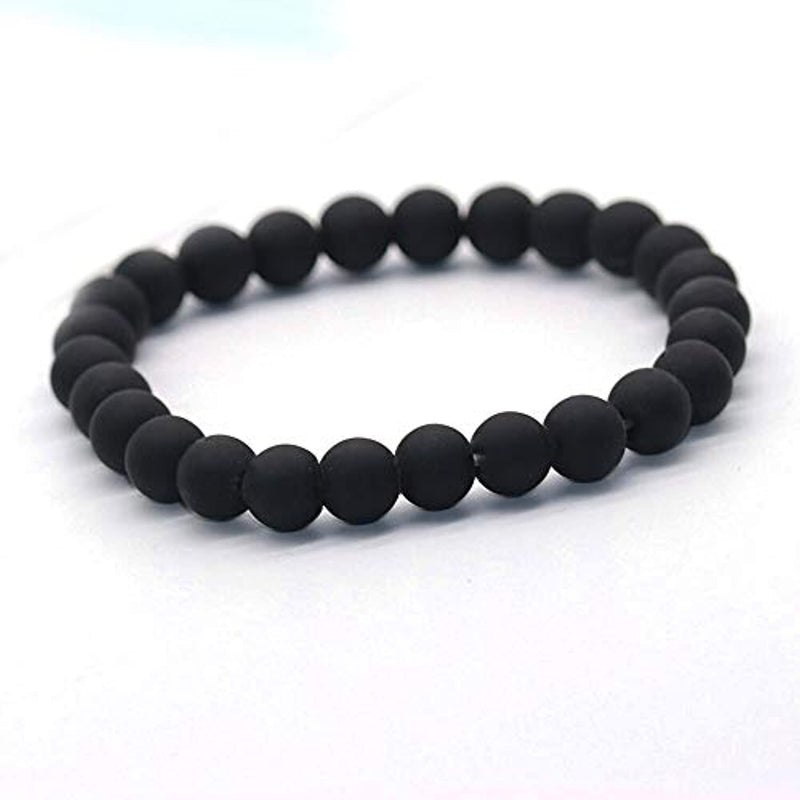M3N Black Adjustable Bracelet Set 3 Bracelets Anchor Beads Leather Men Women Unisex