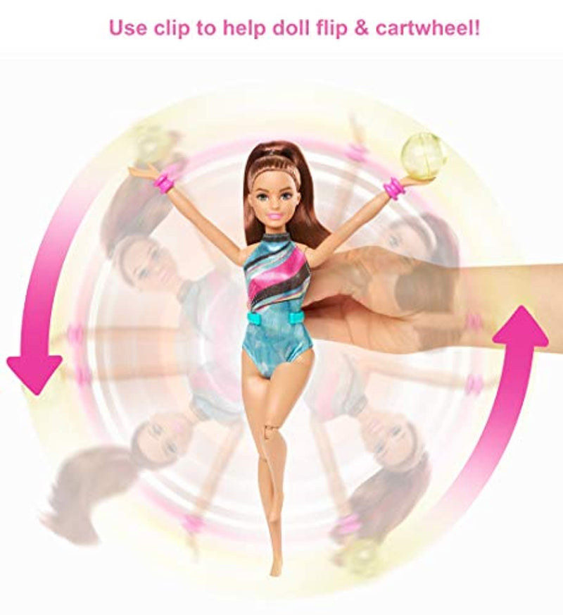 Barbie GHK24 Dreamhouse Adventures Spin 'n Twirl Gymnast Doll and Accessories