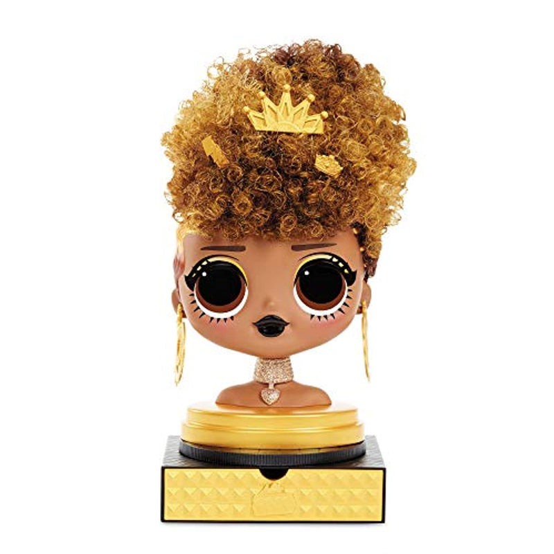 L.O.L. Surprise! O.M.G. Styling Head with Stick-on Hair for Endless Styles - 30 Surprises & Accessories - Royal Bee
