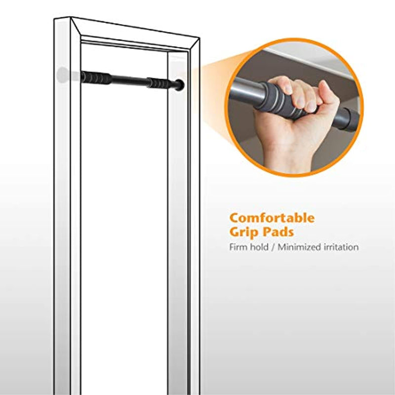 Ultrasport 2-way Pull-Up Bar, Door Rack, Chin Up Bar, Stable Steel, Multi-functional Trainer for Home Use