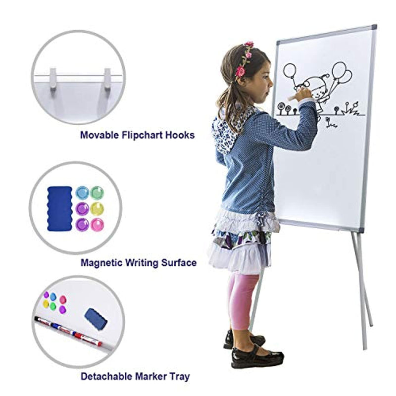 Magnetic Dry Erase Board with Stand 36 x 24 inch Easel White Boards for Kids