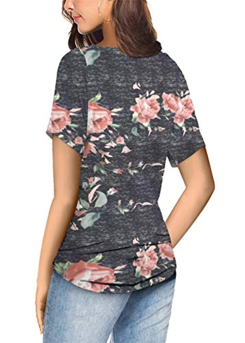 MODARANI Casual Blouse Short Sleeve Shirts for Women