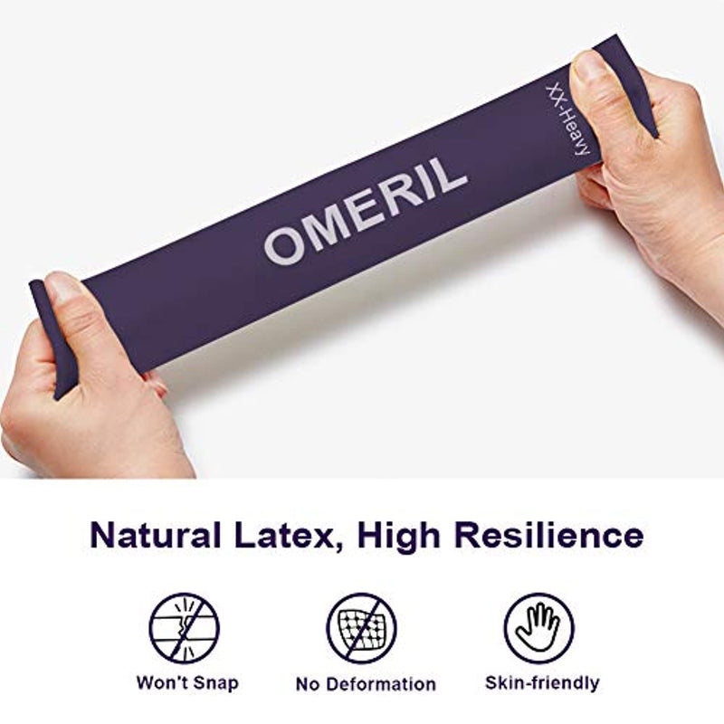 OMERIL Resistance Bands [Set of 5], Skin-Friendly Resistance Fitness Exercise Loop Bands