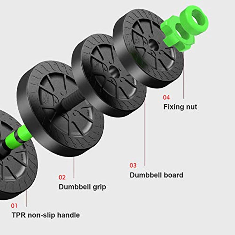 Professional Adjustable Dumbbells' weights Set with Non-Slip Handle And PVC Dumbbell Board