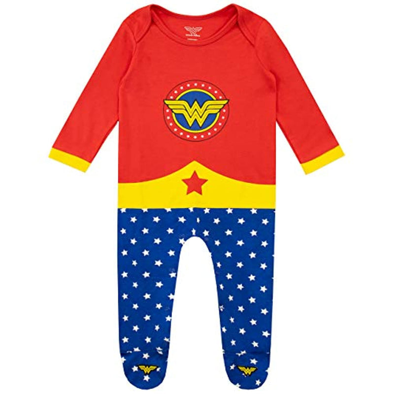 Wonder Woman Baby Girls Sleepsuit and Headband Set