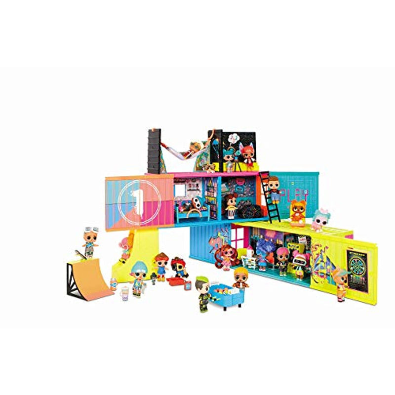 L.O.L. Surprise! Clubhouse Playset - With 40+ Surprises - 2 Exclusives Dolls, 7 Hangout Areas - Kitchen, Bedroom, Game Room & More