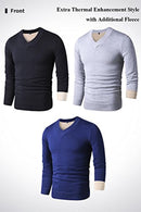 LTIFONE Sweaters V Neck Slim Knitted Long Sleeve For Men