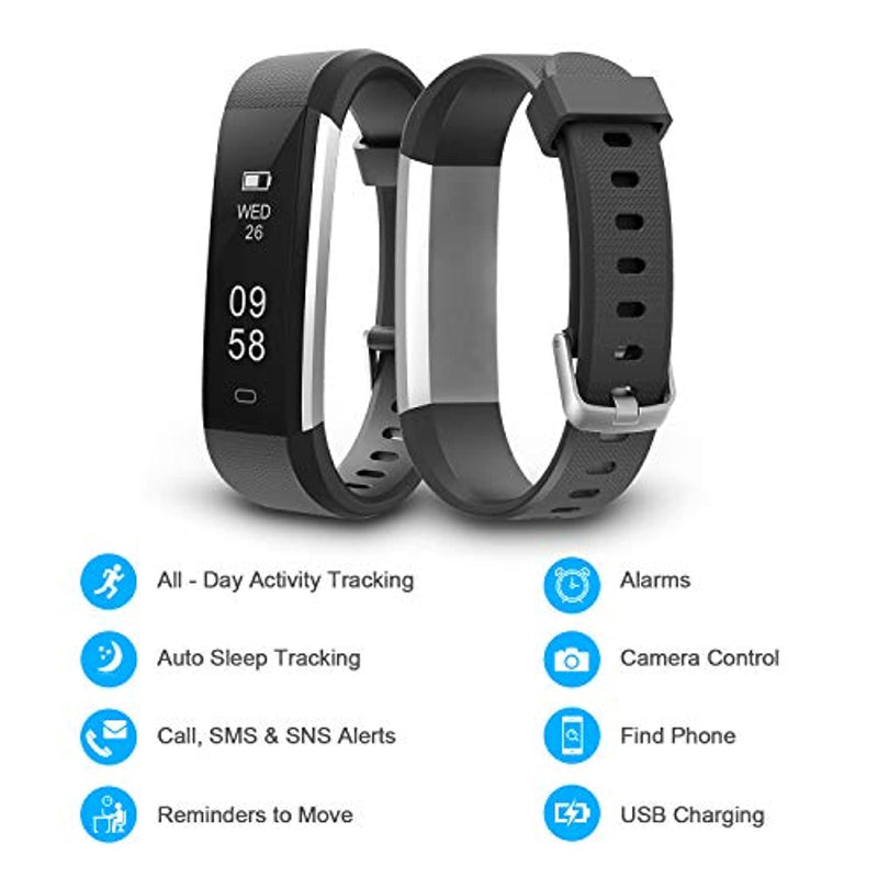 Letsfit Fitness Tracker, IP67 Waterproof Activity Tracker with Pedometer Step Counter and Sleep Monitor Watch
