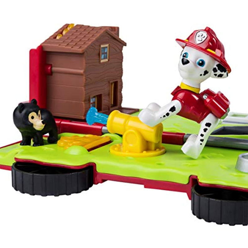 Paw Patrol 6053390 Marshall's Ride 'n' Rescue, Transforming 2-in-1 Playset and Fire Truck, for Kids Aged 3 and Up, Multicolour